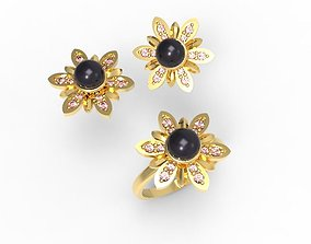 jewelry set Flowers 3D printable model