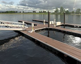 3D Marina - Boat Slips - Floating Dock - Deluxe