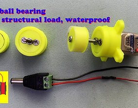 3D printed 608 ball bearing