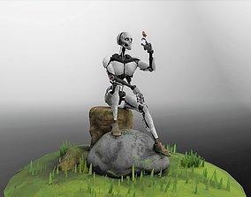 Diorama Robot - Post War 3D asset