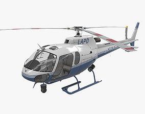 3D asset AS-350 LAPD 3