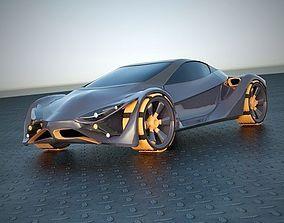 E futurOn concept car 3D model