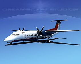 3D model DeHavilland DHC-8-Q300 Texas Transport