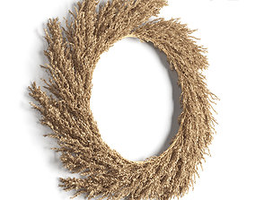 fall 3D model Pampas wreath