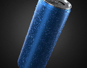 Beverage Can With Water Drops 330ml 3D model
