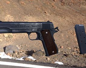 3D asset Colt 1911 lowpoly