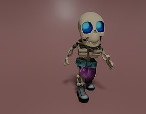 Handpainted Skelet 3D model