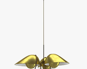 Yellow Sconce Lamp 3D model