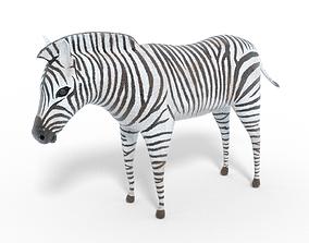 Zebra 3D Model animated VR / AR ready