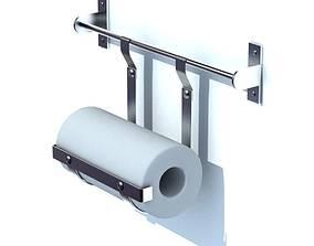 Metallic Paper Towel Holder 3D model