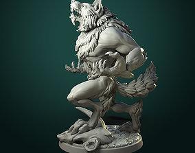Furious Werewolf 2 variants dndminiature 3D printable model