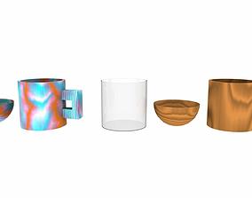 3D asset Cartoon tableware pack 01
