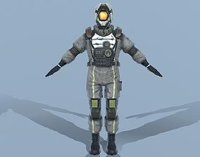 ASTRONAUT 3D model VR / AR ready