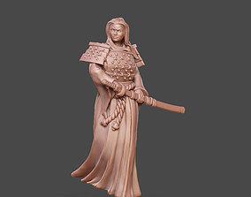 3D printable model Samurai - otaku 35mm scale