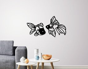 Fantail Goldfish wall decoration 3D print model