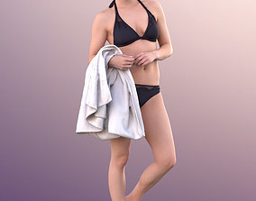 10826 Juliette - Woman In Bikini At Pool With 3D model