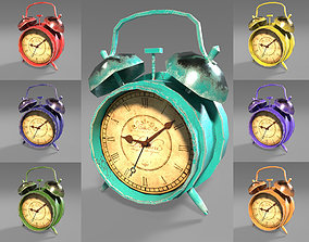Old Clock - 7 different colors - Game ready 3D model