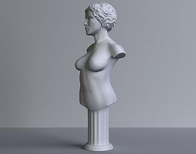 3D print model body female-bust