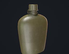 Green Flask 3D asset