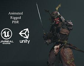 Dead Samurai 3D asset