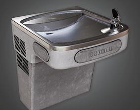 3D asset HSG - Water Fountain - PBR Game Ready
