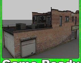 Abandoned corner shop 3D model