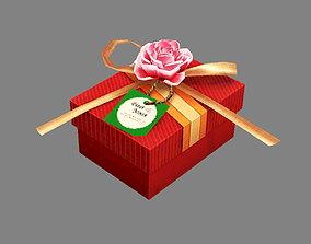 3D model Cartoon wedding gift box - Candy Box - Red 2