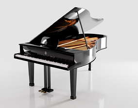 Black Grand Piano Steinway and Sons 3D