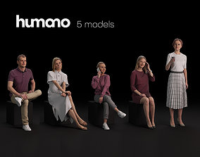 Humano 5-Pack - PEOPLE - DIVERSE - STREET - 5x 3D models