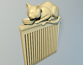 Hair comb Cat 3D printable model