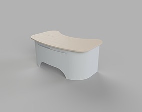 Curved table 3D model
