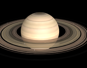 3D animated SATURN