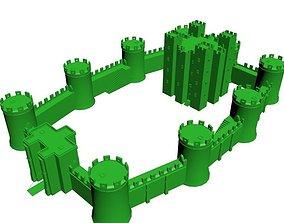 Medieval Castle Low Poly 3D printable model