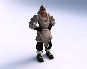 3D model animated Game ready human character