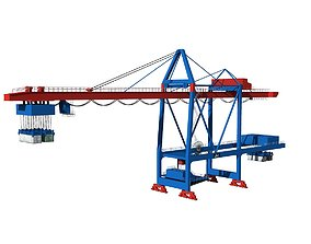 Harbor Crane 3D transport