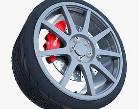 Carbon Fiber Wheel 3D