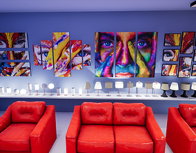 3D model Interior Furniture and Props