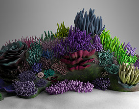 PBR 3D Underwater Coral Reef Habitat Ocean cartoon