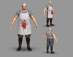 Butcher 3D model