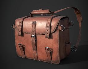 3D asset Leather BackPack