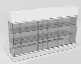 3D asset pharmacy cash-register-desk shop desk