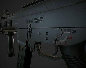3D asset low-poly UMP 45