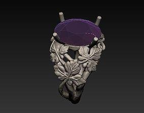 3D print model leaves ring