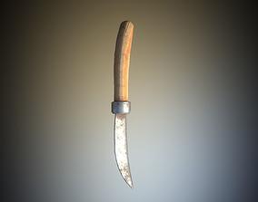 Game Ready Pruning Knife Farming Tool PBR 3D asset