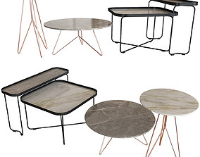 3D model Set of coffee tables Miniforms Cattelan