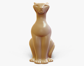 Sitting Cat Figurine 3D print model