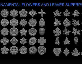 3D printable model FLOWERS AND LEAVES SUPERPACK