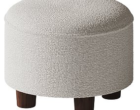 1st dibs - Round Boucle Ottoman 3D model