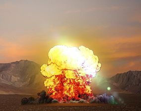 animated FumeFx Heavy Explosion Element Asset File for 2