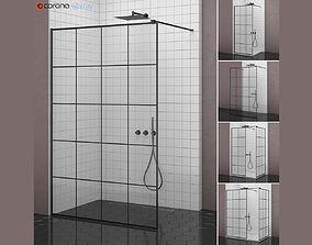 Cabin showers Radaway Modo New Black Factory 3D